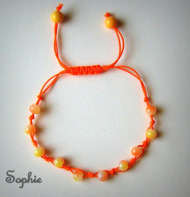 πορτοκαλί χειροποίητο βραχιόλι για το πόδι με γυάλινες χάντρες -το μεγεθ προσαρμόζει #anklets  foot jewelry anklet bracelet handmade Greece makrame orange  https://www.facebook.com/SophiesworldHandmade/