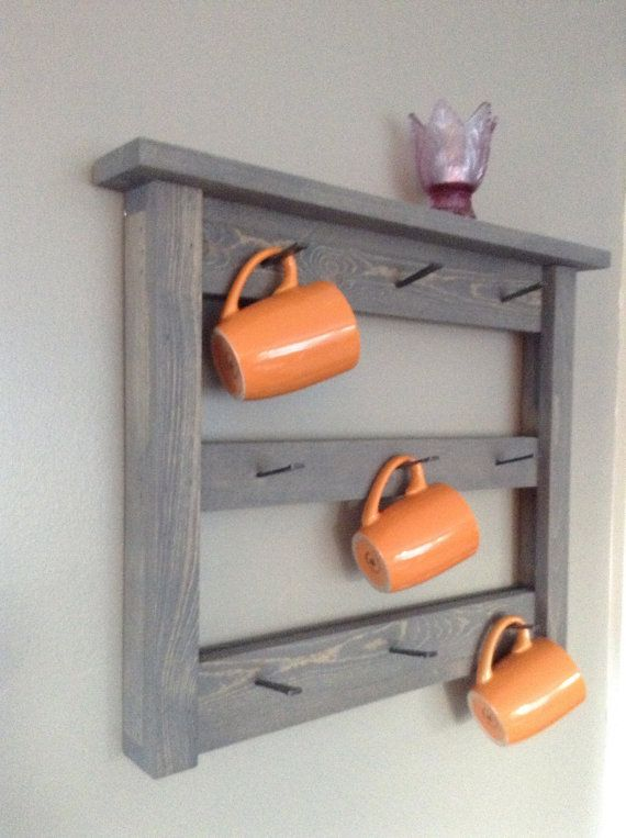 25 great ideas about coffee cup holder on pinterest for Coffee rack diy