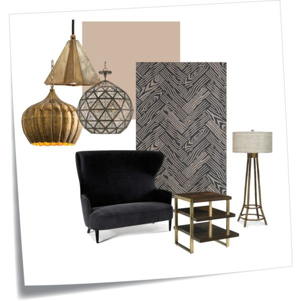 Parquet BP4104 by petra-hus on Polyvore featuring interior, interiors, interior design, home, home decor, interior decorating, Tom Dixon, Stanley Furniture, Arteriors and Currey & Company