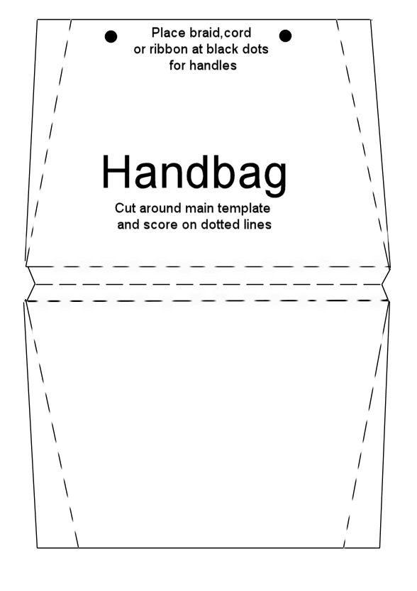 Printable Purse Template | Handbag Card Briefcase Card School Satchel