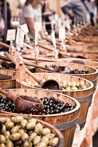 Olives at Borough Market in London