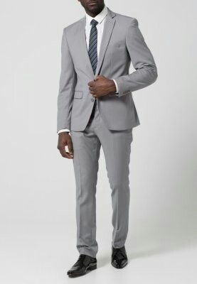 Grå kostym Zalando