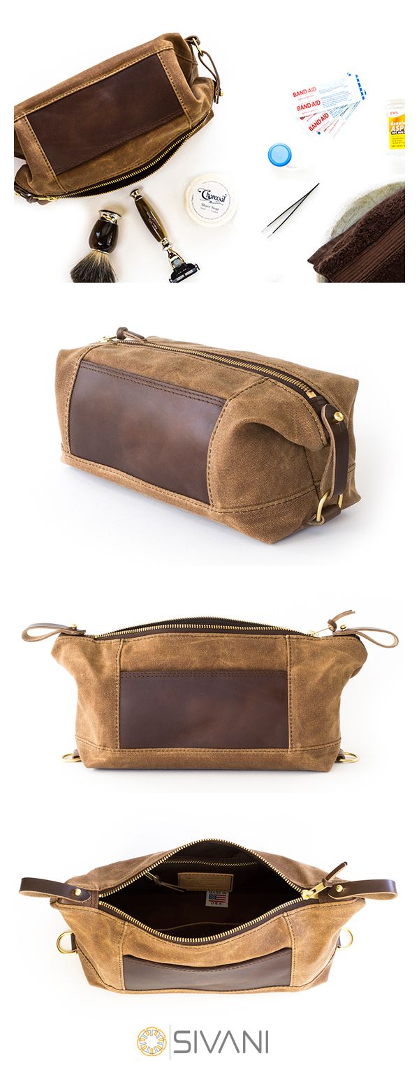 Made in the USA out of heavy-duty waxed cotton canvas, these tough dopp kits offer generous storage space to meet your life's daily demands. And with the option to add personalized monograms, our Expandable NO. 321 Dopp Bags truly feel like your own special treasure chest filled with your most prized possessions. Make each day an adventure — shop our Expandable Dopp Kits now.