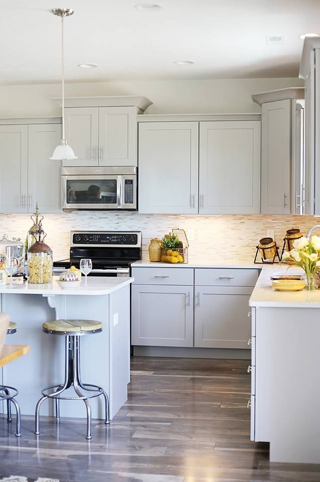 gray kitchen cabinets for the home pinterest. Black Bedroom Furniture Sets. Home Design Ideas