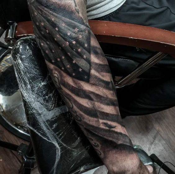10 Mysterious American Flag Tattoos Pop Tattoo Tattoos Tattoo