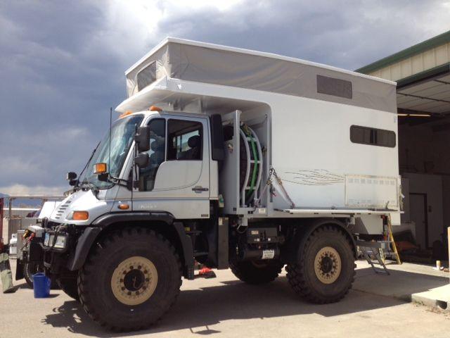 Unimog mercedes pop up camper via campa usa heavy duty for Mercedes benz campervan usa