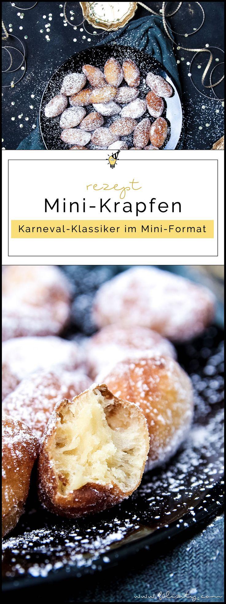 Fasching-Rezept für Mini-Krapfen   Berliner ohne Füllung   Filizity.com   Food-Blog aus dem Rheinland #helau #alaaf #karneval #fasching #berliner #partyfood