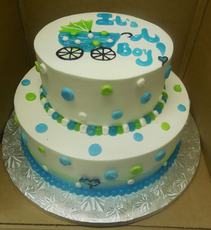 Calumet Bakery Baby Boy Shower Cake