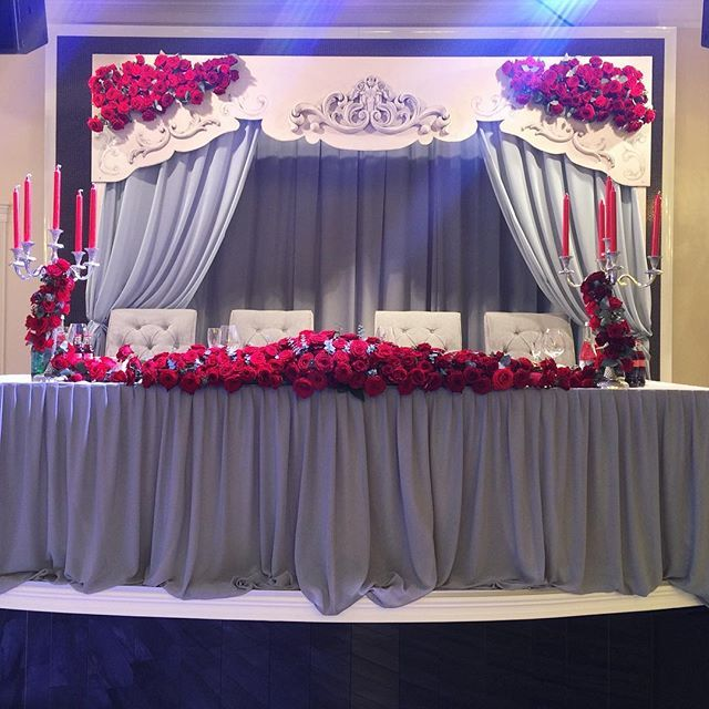 26 best head table images on pinterest wedding head for 25th wedding anniversary stage decoration