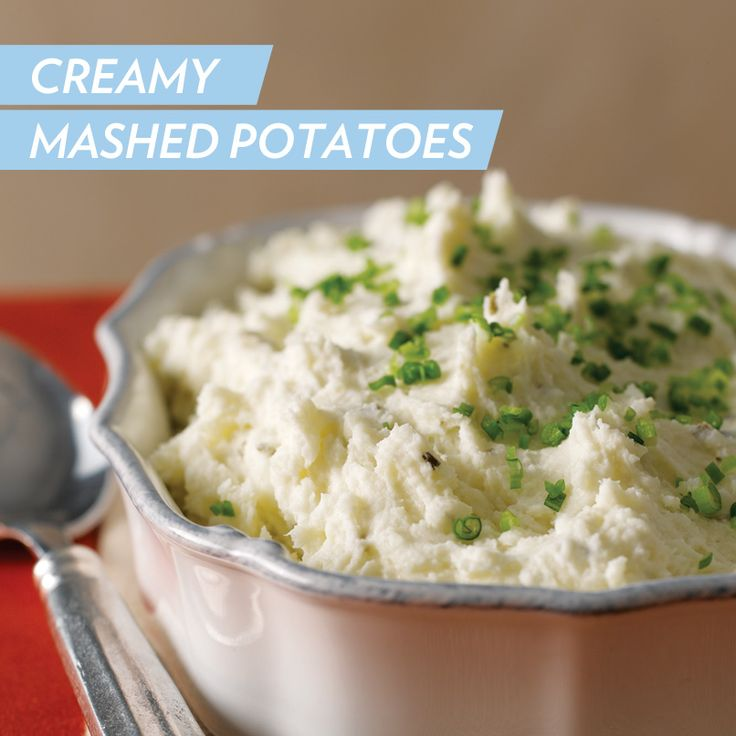 These creamy chive & onion mashed potatoes have only FOUR ingredients ...