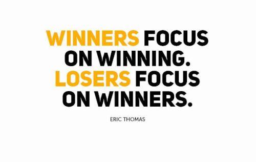 """brandpoems (204) Dear Brand, … """"Winners Focus on Winning. Losers Focus on Winners."""""""