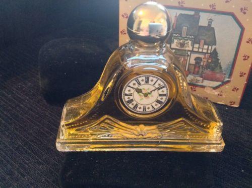 Avon-Vintage-Miniature-Clock-Timeless-Fragrance-CHRISTMAS-BOX
