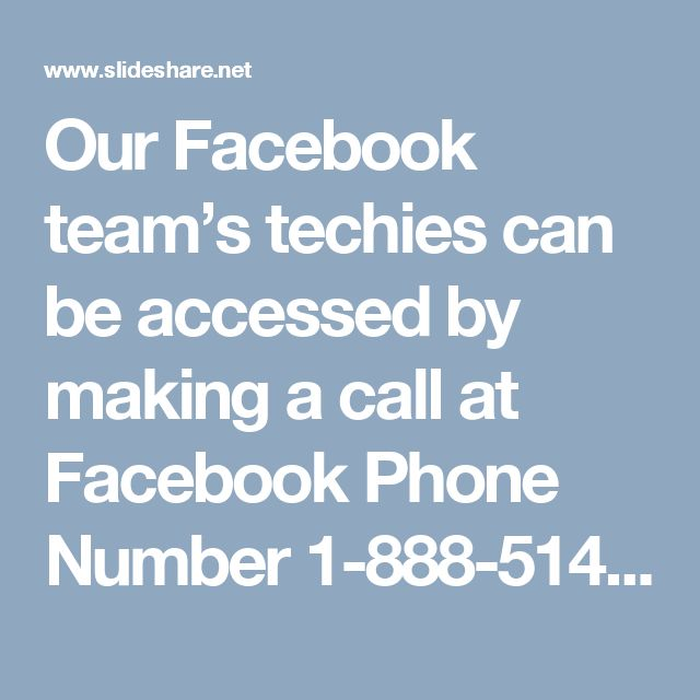 Our Facebook team's techies can be accessed by making a call at Facebook Phone Number 1-888-514-9993 where you will claim the following services:- • Find your friends on Facebook. • Avail the elixir for the Facebook issues. • 100% expert's assurance. For more Information Visit Our Site: http://www.monktech.net/facebook-customer-support-phone-number.htmlSee Less