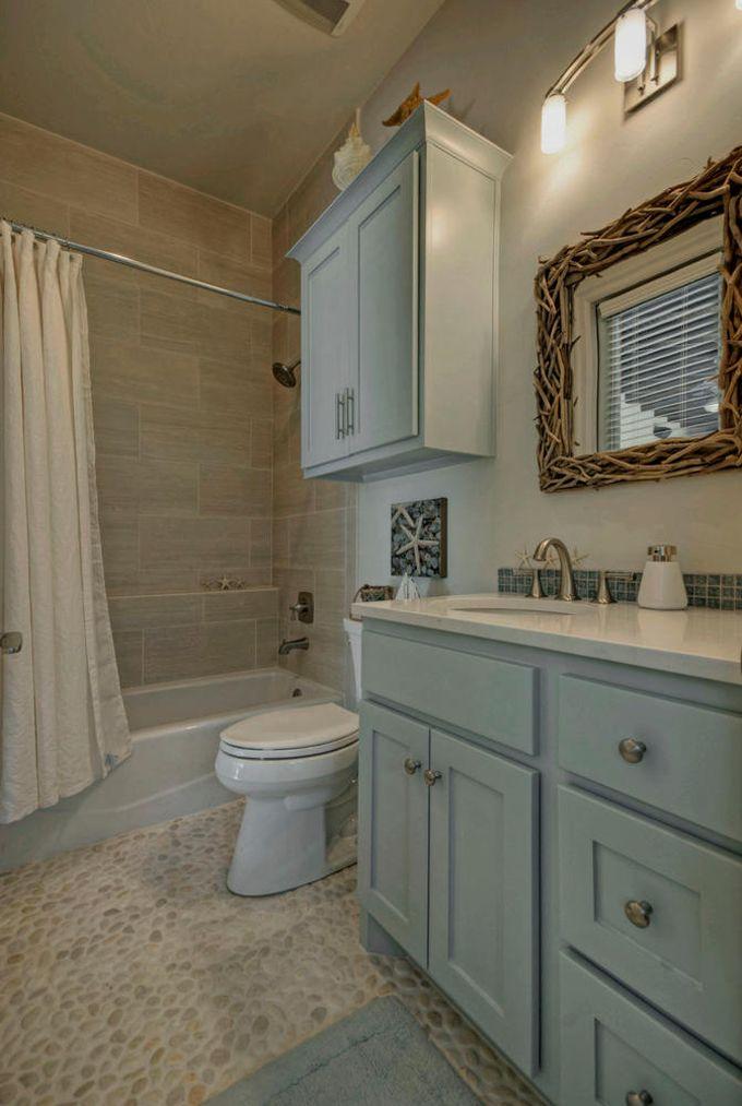 Gray tan bath bathroom pinterest house of for Gray and turquoise bathroom