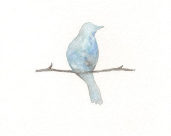 watercolor bluebird tattoo - Google Search