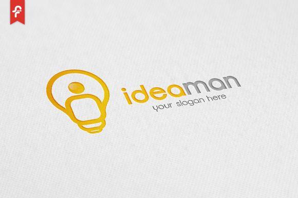 Idea Man Logo by ft.studio on Creative Market