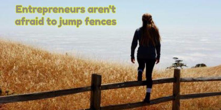Entrepreneurs aren't afraid to jump fences