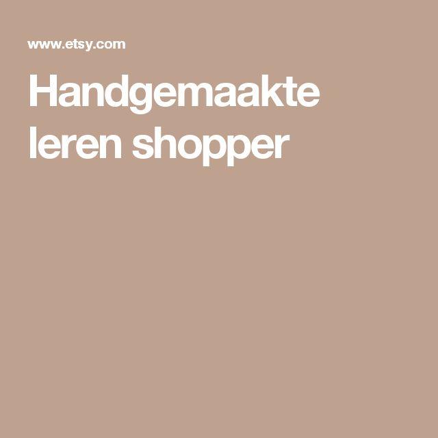 Handgemaakte leren shopper