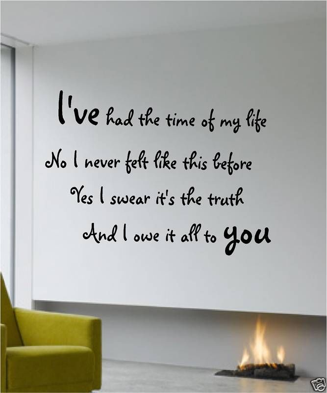 Dirty Dancing Quotes   WALL QUOTE DIRTY DANCING PATRICK SWAYZE ART STICKER