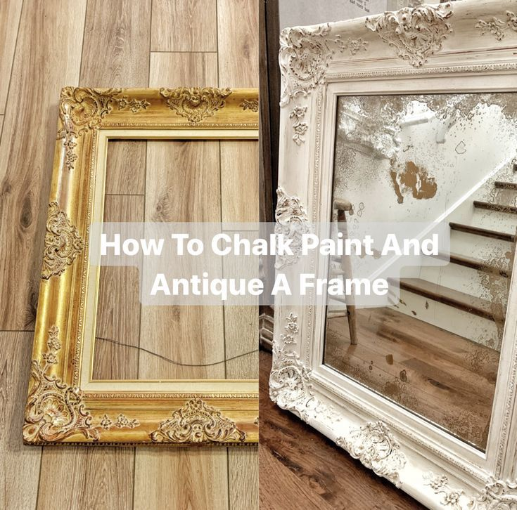 Chalk Painting And Antiquing A Frame In 2020 Vintage Frames Diy Mirror Frame Diy Painting Mirror Frames,Silver Swan Soy Sauce Ingredients