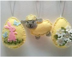 Feltro della decorazione di Pasqua uova di Pasqua di DusiCrafts