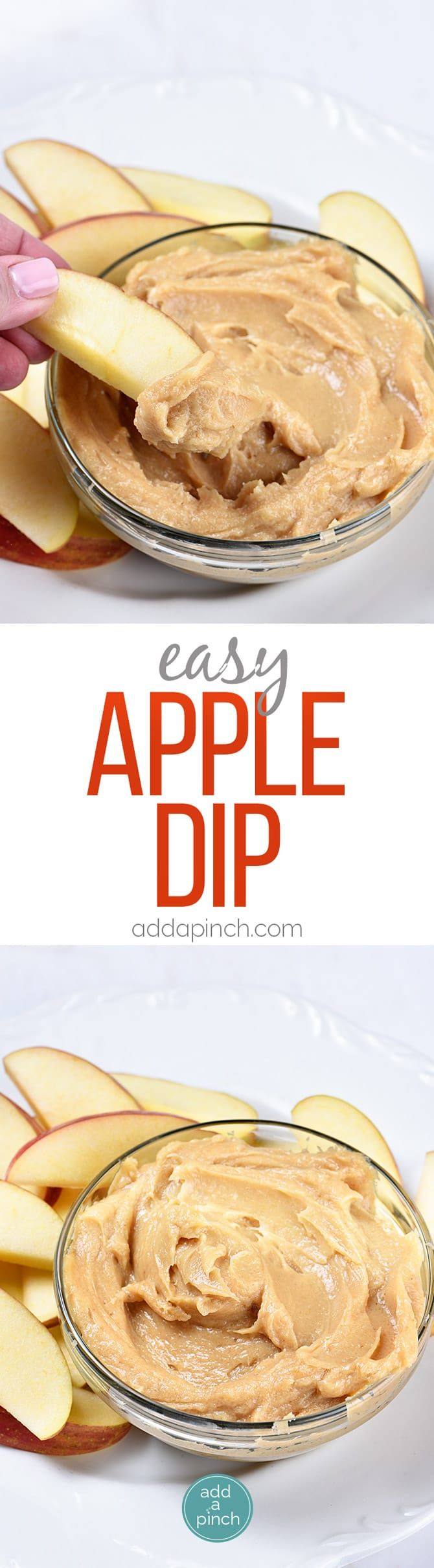 Easy Apple Dip Recipe - This easy Apple Dip Recipe is a definite favorite! Made with just a handful of ingredients, apple dip makes the perfect addition to any get together! // addapinch.com