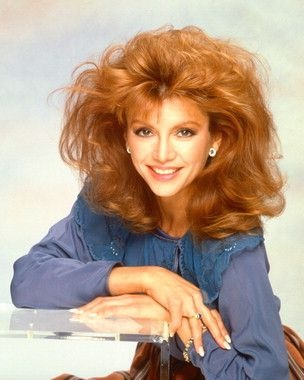 Victoria Principal - with huge 80s hair!