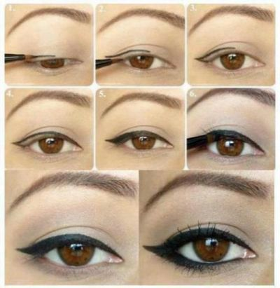 eyeliner.....seems easier and sweeter than the dramatic upturned cat eye