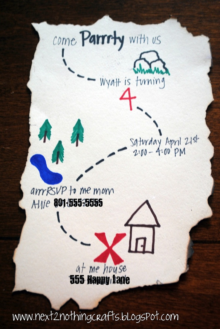 Next 2 Nothing Crafts: Pirate Party Invites