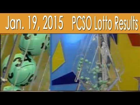 January 19, 2015 PCSO Lotto Results (6/55, 6/45, 4D, Swertres & EZ2) - http://LIFEWAYSVILLAGE.COM/lottery-lotto/january-19-2015-pcso-lotto-results-655-645-4d-swertres-ez2/