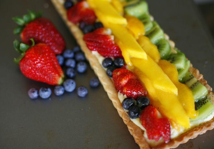 Tartaleta de frutas, receta chilena
