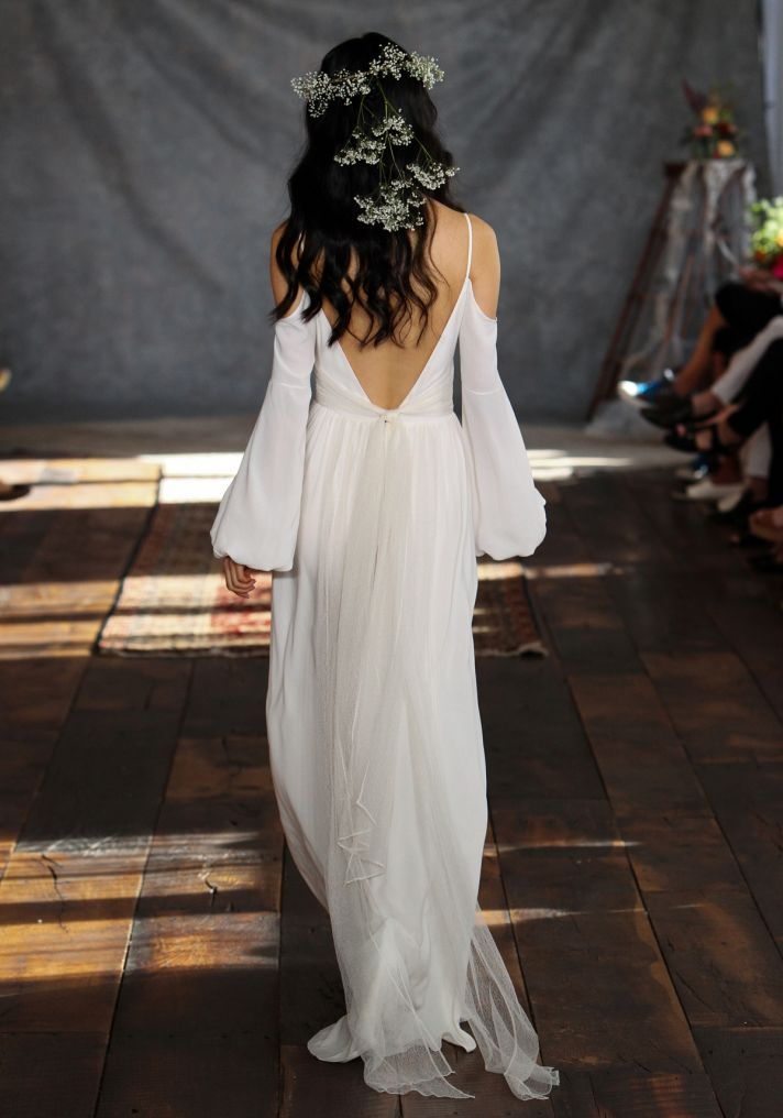 Bianca Wedding Dress Back from Claire Pettibone's Romantique Collection