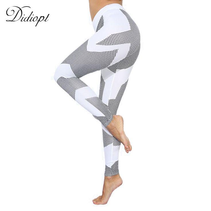Yoga Pants White Stripe Dots Leggings Women 2017 Workout Leggings Fitness Pants Women's Trousers Tights Ropa Deportiva Mujer Gym
