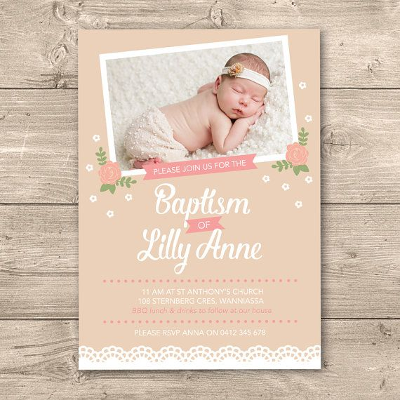 8 best Baptism Christening Invitations images on Pinterest