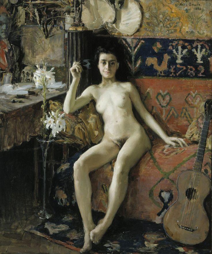 "** Akseli Gallen-Kallela (1865-1931) ""Unmasked"", 1888, Oil on Canvas - 65.5 x 54.5 cm Helsinki, Ateneum Art Museum, Finnish National Gallery"