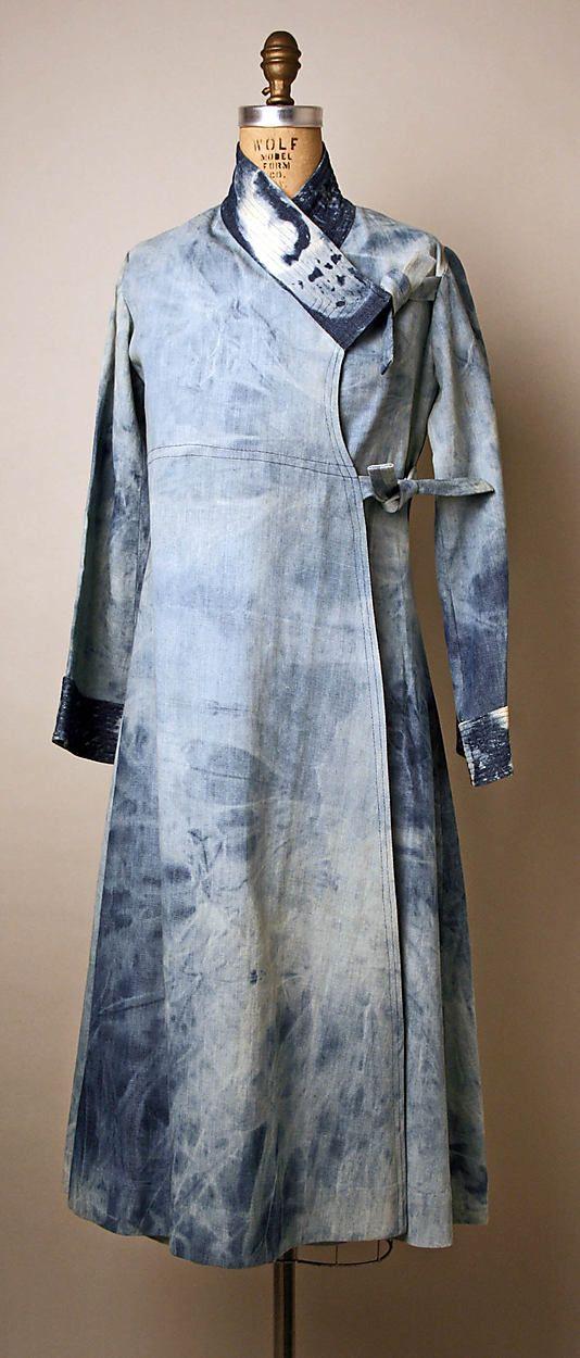 Denim wrap-dress, by Serendipity 3, American