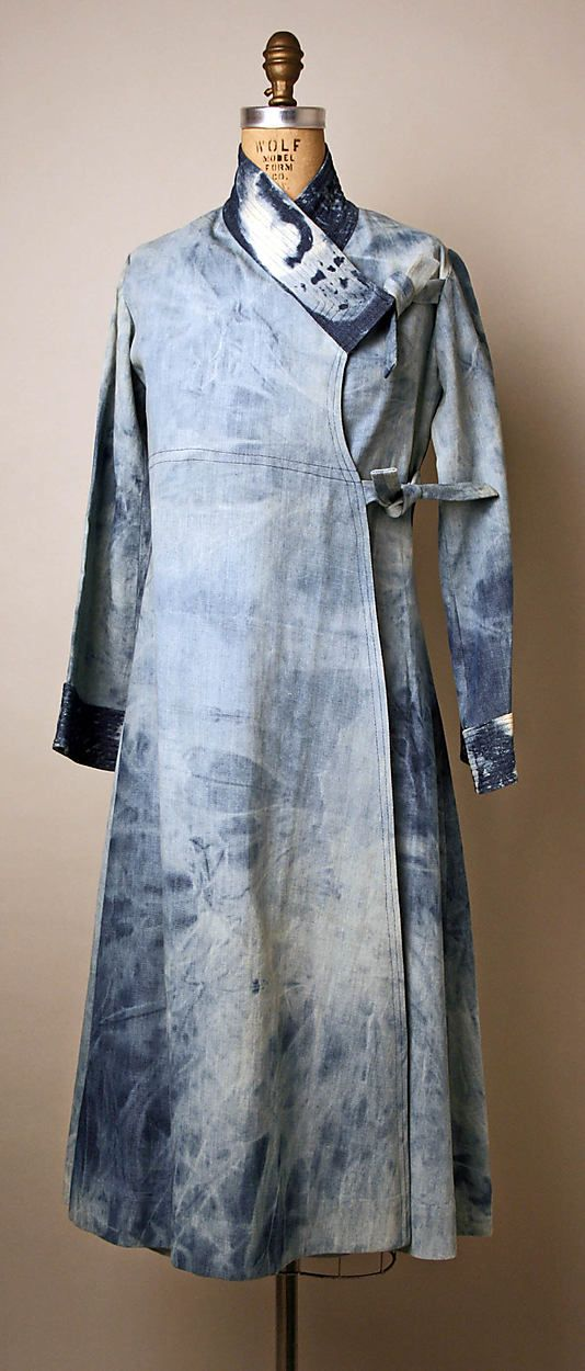 Denim wrap-dress