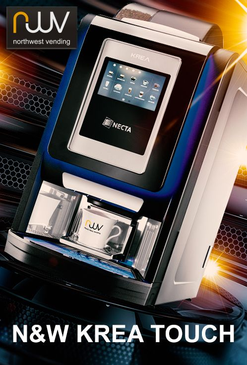 Coming soon and available to pre-order from North West Vending is the brand new N&W Krea Touch table top bean to cup coffee machine. Building on the proven Krea offering, N&W global vending are about to launch a new touch screen version featuring its sophisticated Giga Touch technology, already successfully seen on the outstanding N&W 9100 table top bean to cup and the Canto Touch floor standing vending machine. The Krea Touch will offer consumers the ability to make barista quality drinks.