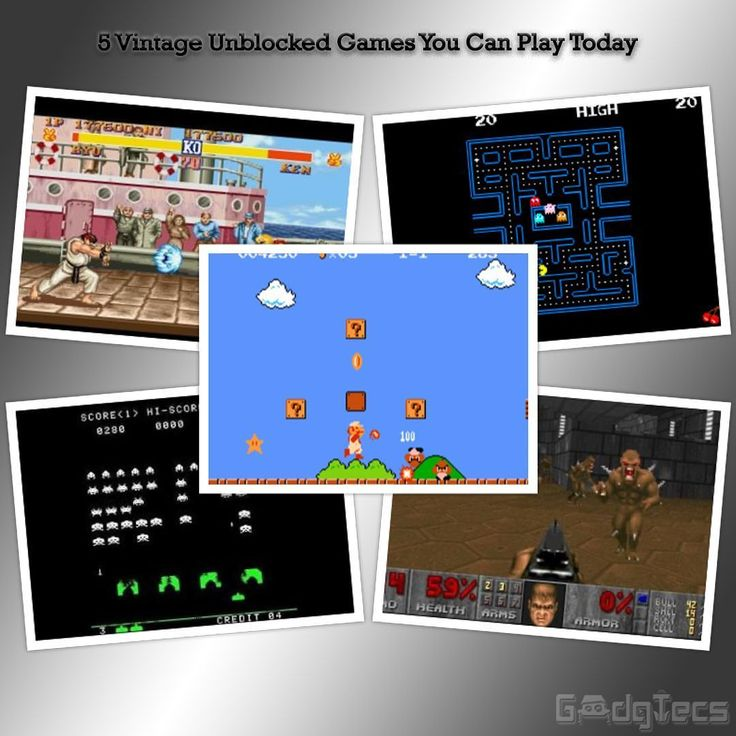 5 Unblocked Vintage Games You Can You Can Play Online in your school home or office! Check out the new article on https://GadgTecs.com  These games are: Space Invaders Street Figher II Doom Pac Man and Super Mario Bros  You can play them easily on your browsers. No need to install any special software! No proxies needed  Tags: #oldisgold #nostalgia #games #gamer #browser #tech #player #unblock #proxy #proxies #banned #copyright #space #spaceinvaders #streetfighter #streetfighter2…