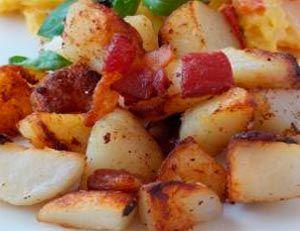 Рецепт №1: Жареный картофель с беконом