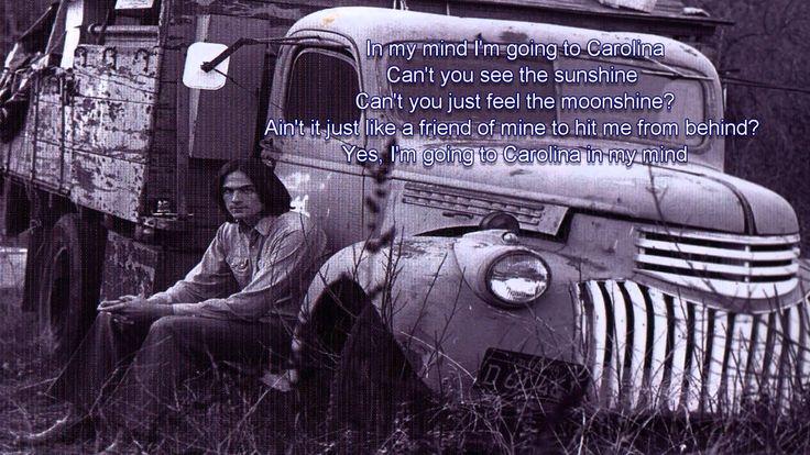 Carolina In My Mind - James Taylor - Lyrics / HD