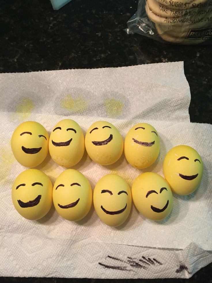 Emoji Party Egg Toss We Dyed Fresh Eggs In Yellow Dye
