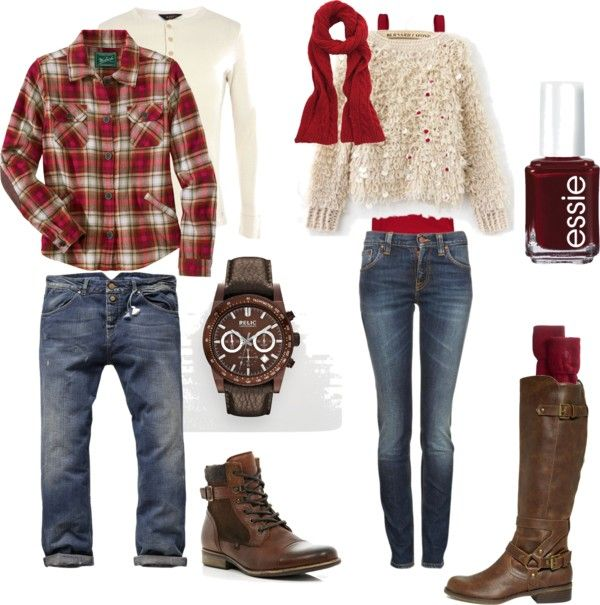 """Couples Autumn What To Wear"" by andreahurley ❤ liked on Polyvore Like the guys outfit for Trav"