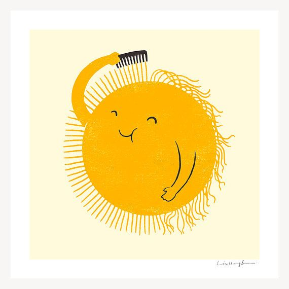 Bad Hair Day art print from ilovedoodle on Etsy. $30. Everything in this shop makes me smile.