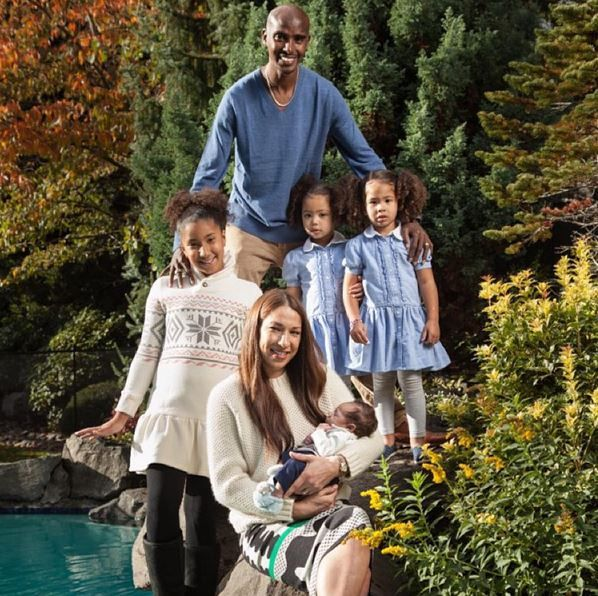 Mo Farah and his family