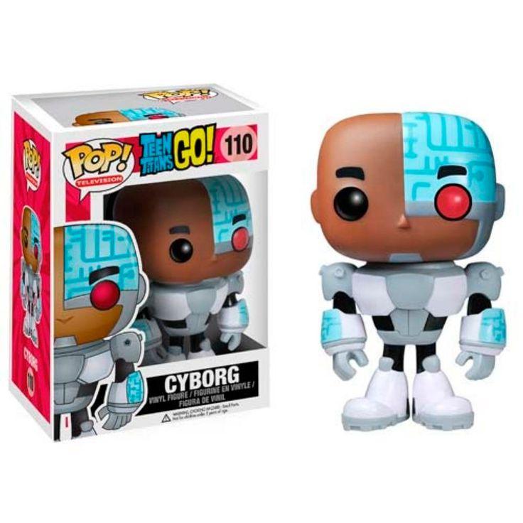 Cabezón Teen Titans Go!. Cyborg, Funko POP Televisión Cabezón de Cyborg, creado por Funko perteneciente a la colección POP Televisión, inspirada en el personaje de la serie infantil Teen Titans.