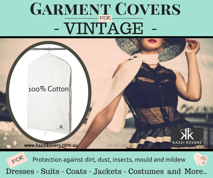 100% Cotton Garment Bags for Vintage Pieces. Protect the items you love. Breathable. Acid-Free.