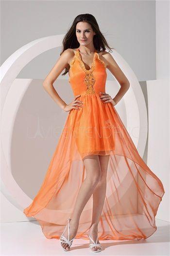 Robe de cocktail orange