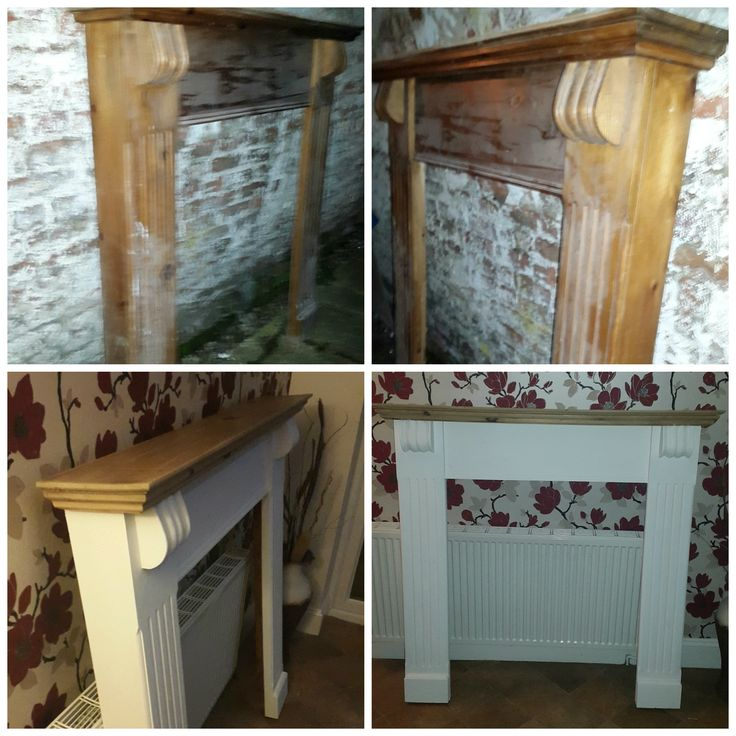 Old Pine Fire Surround Upcycled Using Annie Sloan Chalk