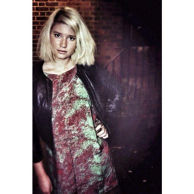 OM shimmer print silk dress omlabel.co.uk